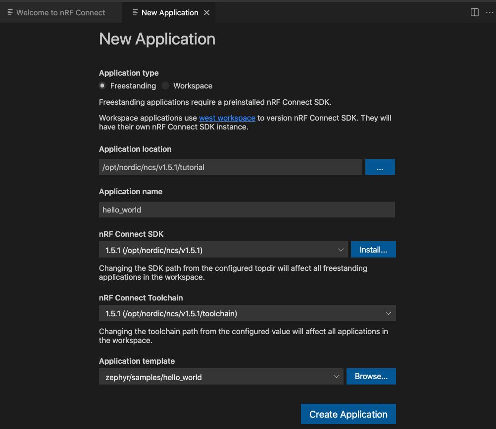 new application window